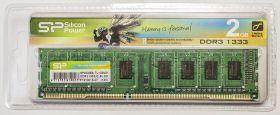 Модуль памяти Silicon Power DDR3 DIMM 2GB PC3-10600 1333MHz SP002GBLTU133V01