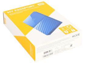 "Внешний жесткий диск  HDD 2.5"" USB 3.0 2TB Western Digital WDBUAX0020BBL My Passport Blue"