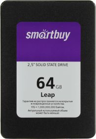 """Твердотельный диск SSD 2.5"""" 64GB SmartBuy Leap SB064GB-LP-25SAT3"""