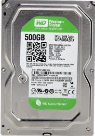 """Жесткий диск HDD 3.5"""" 500Gb Western Digital WD5000AZRX Green"""