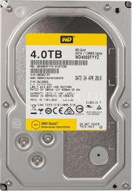 """Жесткий диск HDD 3.5"""" 4Tb Western Digital WD4002FYYZ Gold"""