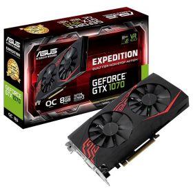 Видеокарта ASUS GeForce GTX 1070 1582Mhz PCI-E 3.0 8192Mb  256 bit EX-GTX1070-O8G